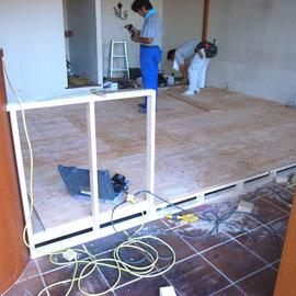床上げ 24mm合板貼り