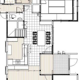 戸建 リノベーション 改装計画の平面図
