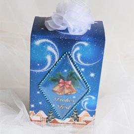 Kaffeebox blau-weiß mit Glocken