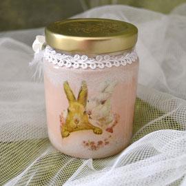 Dekoriertes Osterglas für Geld, Gutschein oder Süßes für Ostern