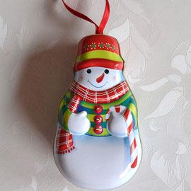 Weihnachtsaufhänger Schneemann zum öffnen.