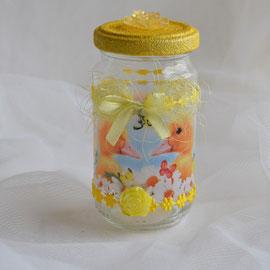 Osterglas gelb (1) für Ostergeschenke wie Geld, Gutschein oder Süßes