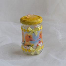 Osterglas gelb (2) für Ostergeschenke wie Geld, Gutschein oder Süßes