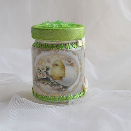 Osterglas mit Deko für Geld, Gutschein oder Süßes zum Osterfest