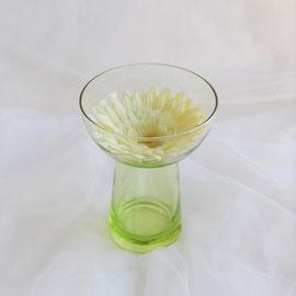 Glasvase grün für Hyazinthe