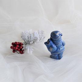 Nikolaus stehend mit Sack und Geschenken blau-gold