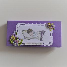 "Geschenkschachtel in lila ""Werde bald gesund"""