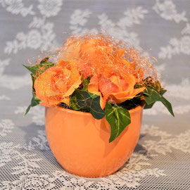 Herbstgesteck orange