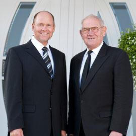 Helge Alpers, Chef (li) u. sein Vater Friedrich-Wilhelm Alpers