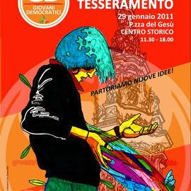 Manifesto tesseramento GD, Gianmarco De Chiara, 2010
