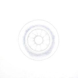 pulsation 4 - farbstift auf papier - 92 x 92 cm - 2017