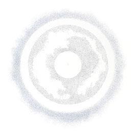pulsation 1 - farbstift auf papier - 92 x 92 cm - 2017