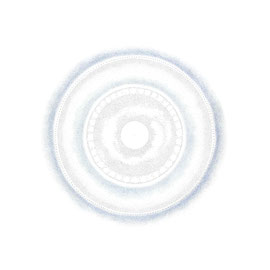 pulsation 5 - farbstift auf papier - 92 x 92 cm - 2017