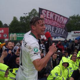 Nach dem Spiel gegen Heidenheim / Julian Schauerte ( 5. Mai 2012 )