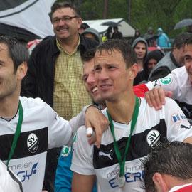 Nach dem Spiel gegen Heidenheim / Mitte: Tim Danneberg ( 5. Mai 2012 )