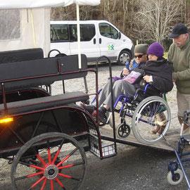 calèche accès handicapés