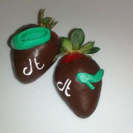 Fresas cubiertas de chocolate, diego torreblanca