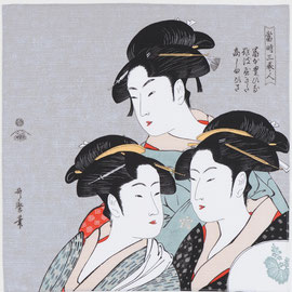 "Art.Nro.4)""Three Beauties"" by Utamaro"