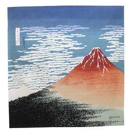 "* 104 cm Ukiyoe ""Red Fuji/Hokusai"""