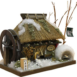 "** Miniature house kit ""Japanese thatched roof house"" - winter -"