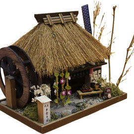 "* Miniature house kit ""Japanese thatched roof house"" - summer -"