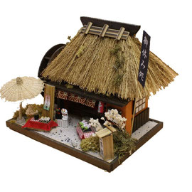 "* Miniature house kit ""Japanese thatched roof house"" - spriing -"