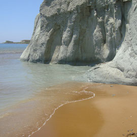 Xi beach, so einzigartig mit seinem roten Sand