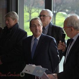 Marc Avinen, Maire de Sallebœuf, en présence du Préfet d'Aquitaine et de Gironde, Michel Delpuech, Pôle culturel et social La Source