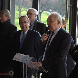 Marc Avinen, Maire de Sallebœuf, inauguration du Pôle culturel et social La Source, Sallebœuf