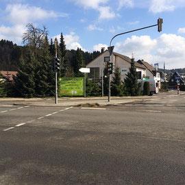 unser 3. Banner an der Kreuzung in Eichhof