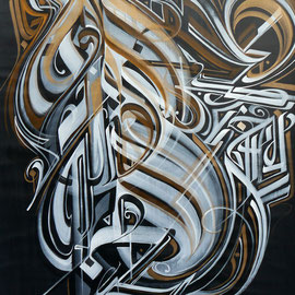 """Al Rafi variation"" 190/120 cm Mixed media on canvas 2013"