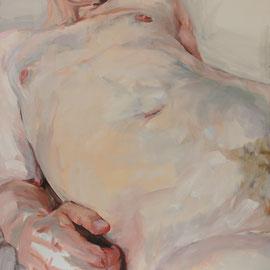 "Olga_Wiedenhöft ""o.T.""   120 cm x 130 cm, Ölfarbe auf Leinwand, 2016  Abc-Westside-Galerie"
