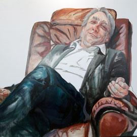 """Olga_Wiedenhöft """"Andreas Kriegenburg""""   120 cm x 130 cm, Ölfarbe auf Leinwand, 2016  Abc-Westside-Galerie"""