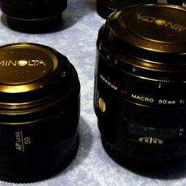 Minolta 50 mm 1:1,7  und 50 mm 1:2,8