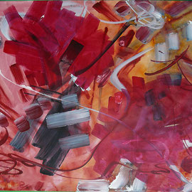 1. Ohne Titel Entstehungsjahr: 1992 Breite: 51 cm, Höhe: 41 cm Acryl auf Palettenpapier