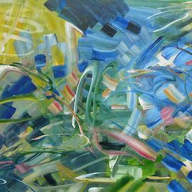 6. Ohne Titel Entstehungsjahr: 1992 Breite: 61 cm, Höhe: 45 cm Acryl auf Aquarellpapier