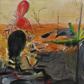 Titel Nr.3: Sonnenbrand Entstehungsjahr: 2011 Breite: 80 cm, Höhe: 60 cm Acryl auf Leinen