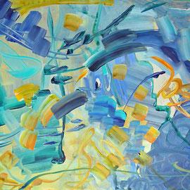 4. Ohne Titel Entstehungsjahr: 1992 Breite: 51 cm, Höhe: 41 cm Acryl auf Palettenpapier