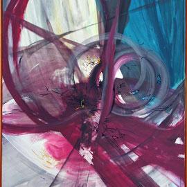 Titel Nr.6: Die Frau im Spiegel Entstehungsjahr: 1986 Breite:100cm Höhe:150cm Dispersion auf Maltuch