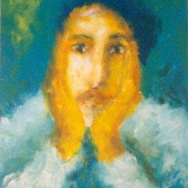 """""""und jetzt"""" Acryl auf Holzplatte, 1992, 52 x 70 cm, 366,00 €"""