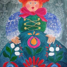 2014, Acryl auf Karton, aufgezogen auf Polystrolschaumplatte, 70 x 100 cm, (verkauft)