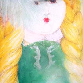 2014, Acryl und Farbstift auf Karton, aufgezogen auf Polystrolschaumplatte, 34,5  x  100 cm, 403,00€