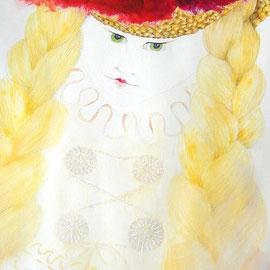 2014, Acryl und Farbstift auf Karton, aufgezogen auf Polystrolschaumplatte, 34,5 x 100 cm, (verkauft)