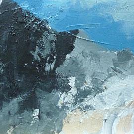 Alpenstück 2 | 2012 | Acryl auf Leinwand | 60 x 30 cm