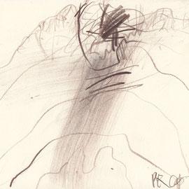 Landschaft | 2013 | Braunstift auf Bütten | 29,7 x 21 cm