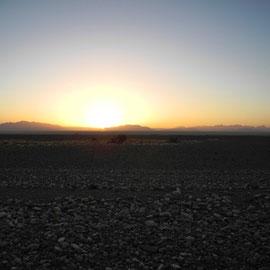 Sonnenaufgang um kurz vor 7:00 Uhr