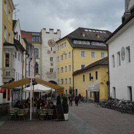 In Bruneck angekommen, gab es leider nicht mehr viel zu sehen - die Geschäfte hatten geschlossen