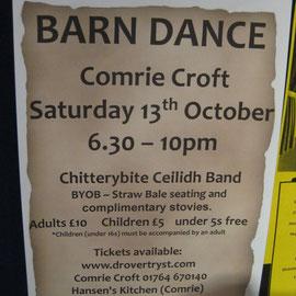 Hinweis im Tourist Büro auf unser Barn-Dance