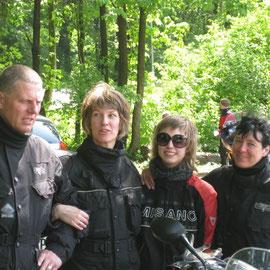 v. l.: Artur, ich, Nele, Angelika (Karsten fotografiert)