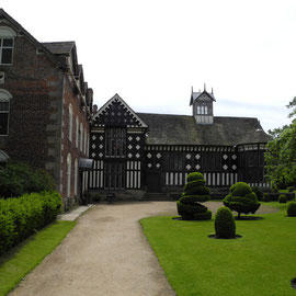 Die Rufford Old Hall in Lancashire nahe Liverpool